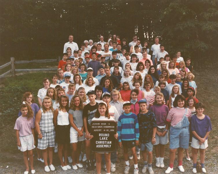 Junior High 4, August 4-10, 1991 Dave Underwood, Dean