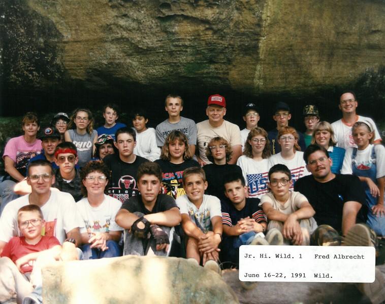 Junior High Wilderness 1, June 16-22, 1991 Fred Albrecht, Dean
