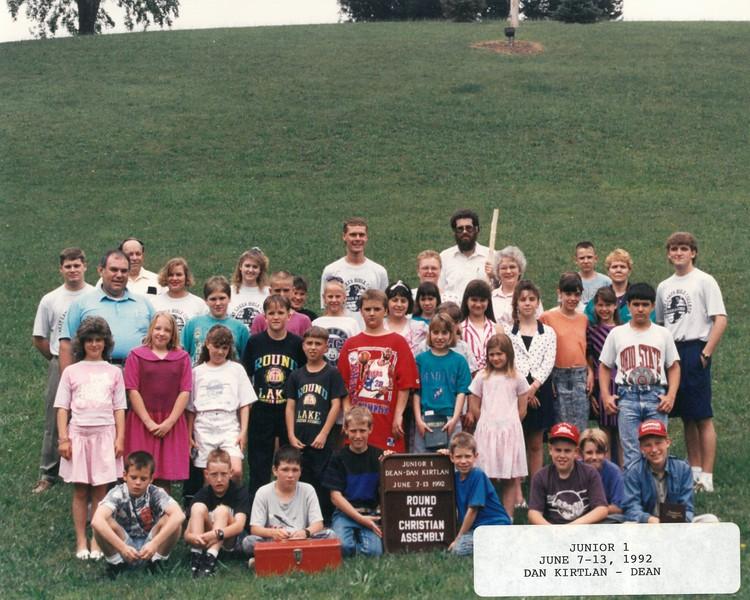 Junior 1, June 7-13, 1992 Dan Kirtlan, Dean