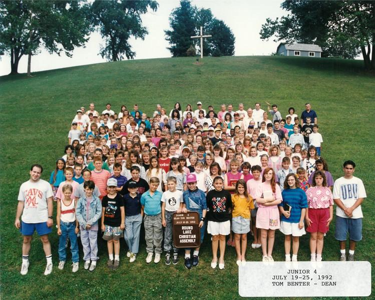 Junior 4, July 19-25, 1992 Tom Benter, Dean
