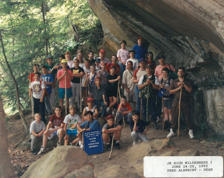 Junior High Winderness 1, June 14-20, 1992 Fred Albrecht, Dean