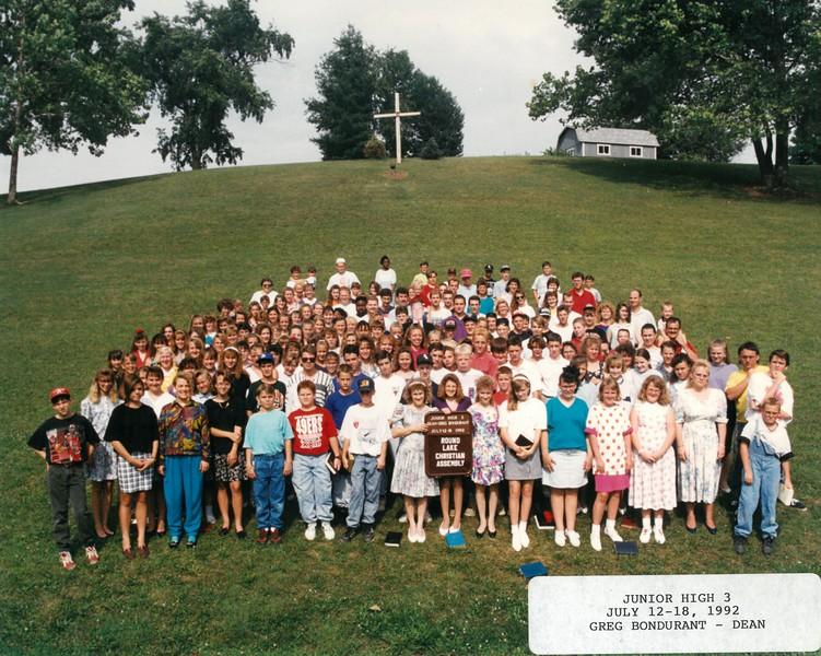 Junior High 3, July 12-18, 1992 Greg Bondurant, Dean