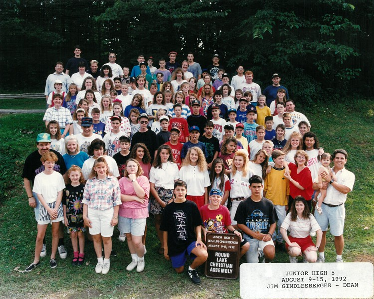 Junior High 5, August 9-15, 1992 Jim Gindlesberger, Dean