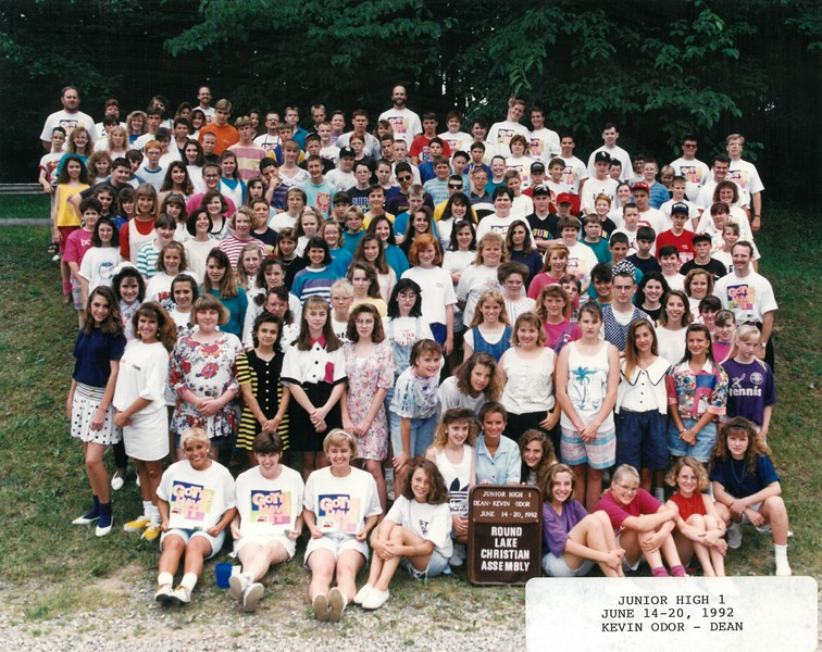 Junior High 1, June 14-20, 1992 Kevin Odor, Dean