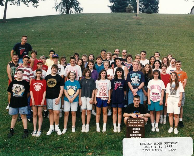 Senior High Retreat, July 1-4, 1992 Dave Mason, Dean