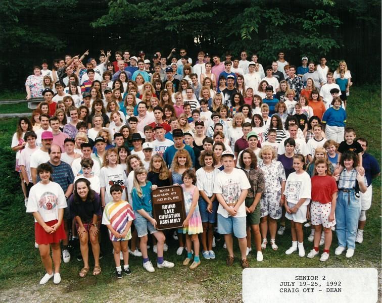 Senior 2, July 19-25, 1992 Craig Ott, Dean