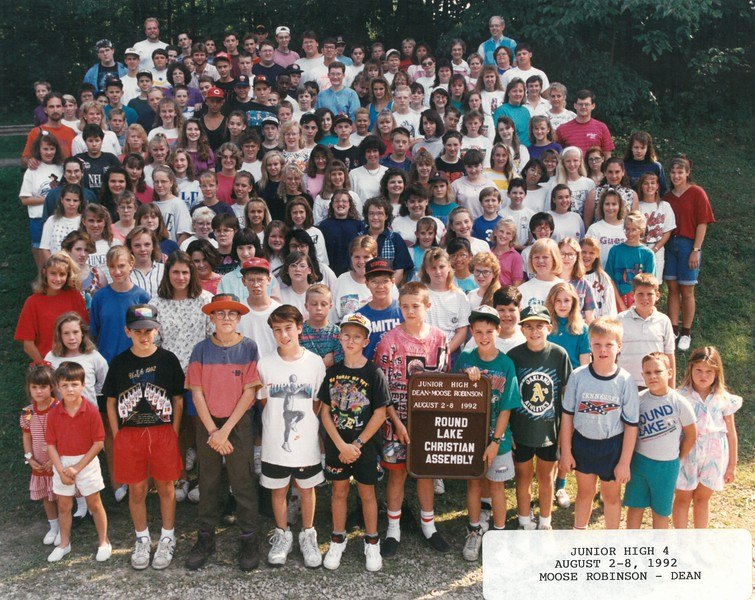Junior High 4, August 2-8, 1992 Moose Robinson, Dean