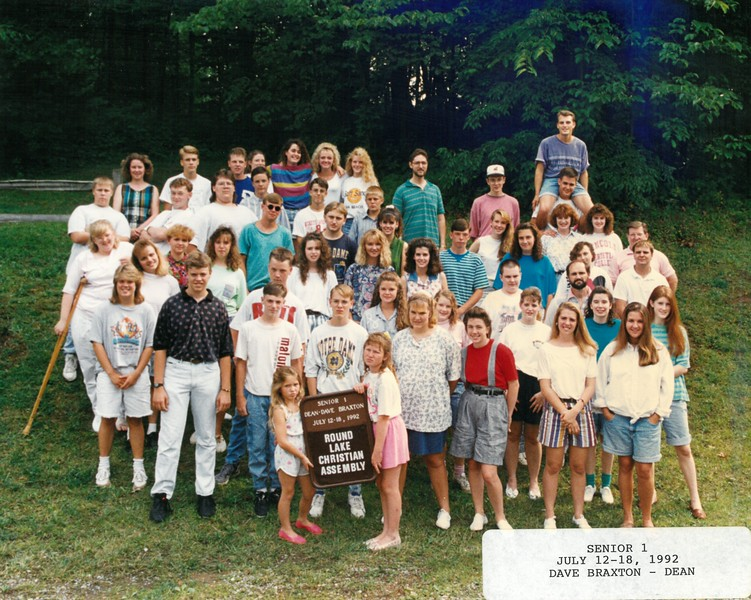 Senior 1, July 12-18, 1992 Dave Braxton, Dean