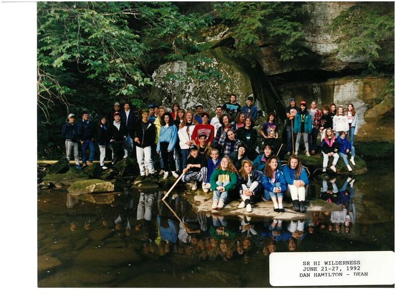Senior High Wilderness, June 21-27, 1992 Dan Hamilton, Dean