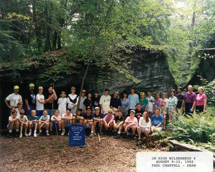 Junior High Wilderness 4, August 9-15, 1992 Paul Chappell, Dean