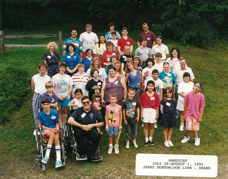 Handicap, July 29-August 1, 1992 Jerry Borton & Don Linn, Deans