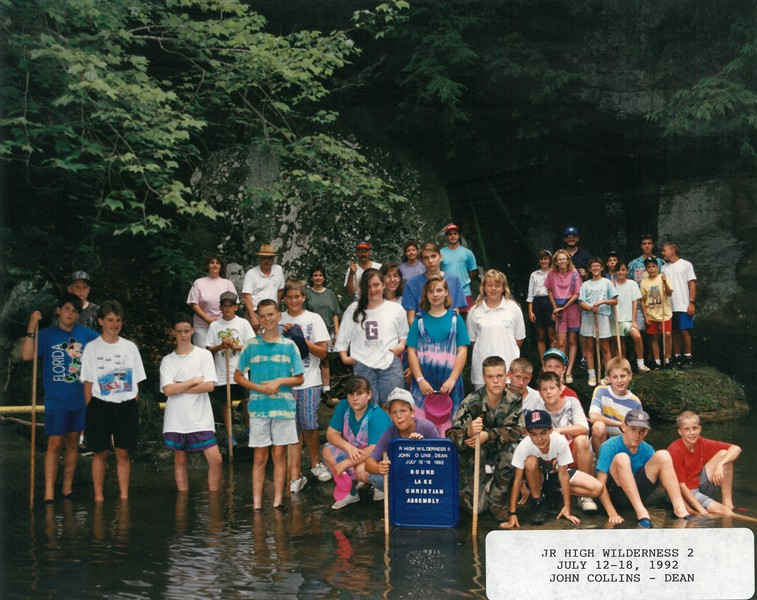 Junior High Wilderness 2, July 12-18, 1992 John Collins, Dean