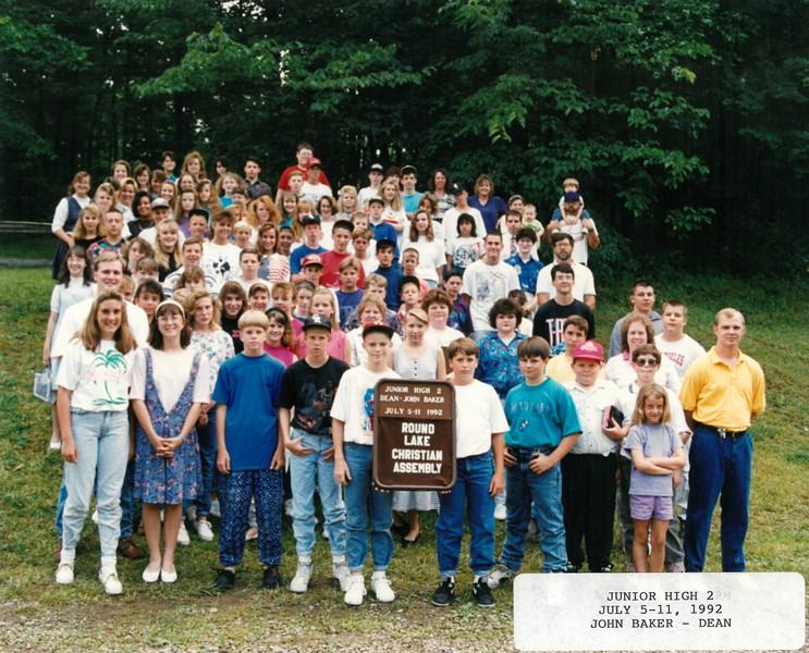 Junior High 2, July 5-11, 1992 John Baker, Dean