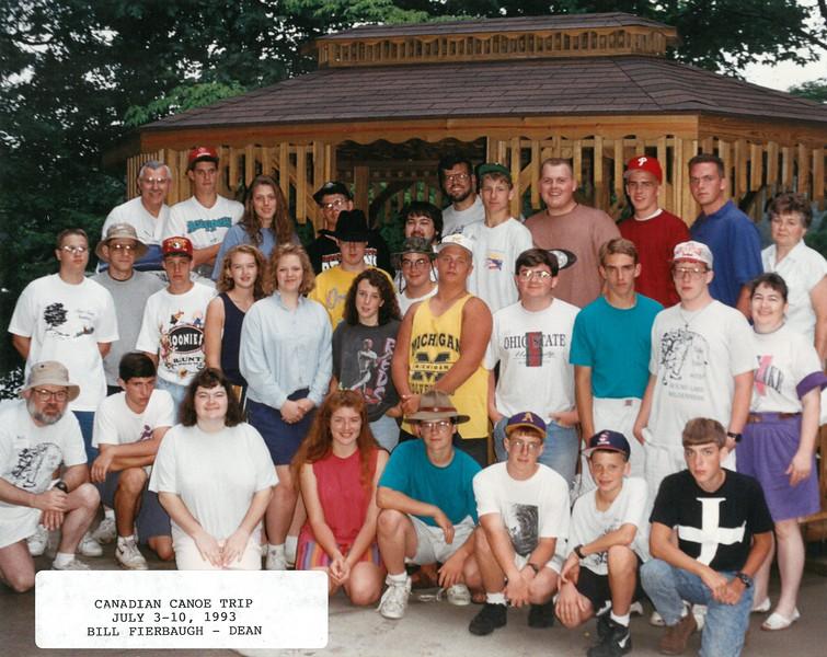 Canadian Canoe Trip, July 3-10, 1993 Bill Fierbaugh, Dean