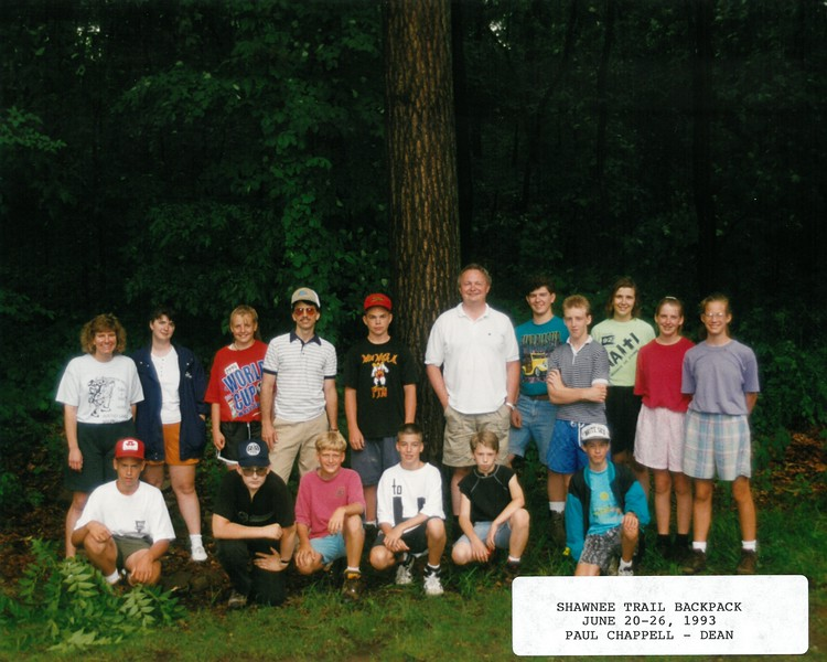 Shawnee Trail Backpack, June 20-26, 1993 Paul Chappell, Dean
