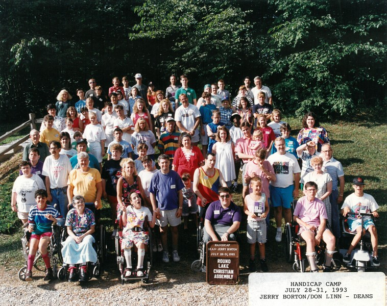 Handicap Camp  July 28-31  1993 Jerry Borton-Don Linn, Deans