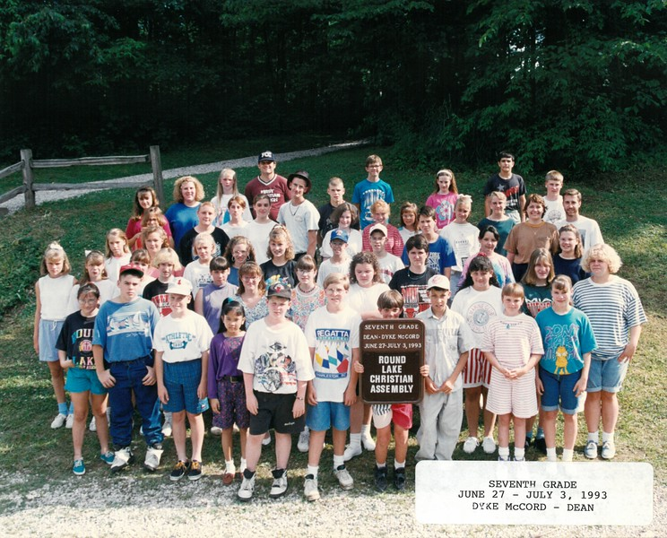Seventh Grade, June 27-July 3, 1993 Dyke McCord, Dean