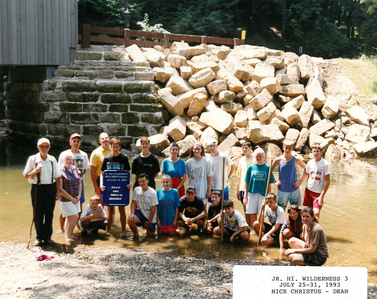Junior High Wilderness 3, July 25-31, 1993 Nick Christus, Dean