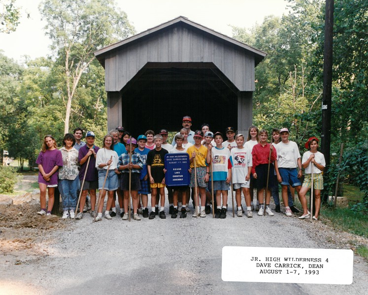 Junior High Wilderness 4, August 1-7, 1993 Dave Carrick, Dean