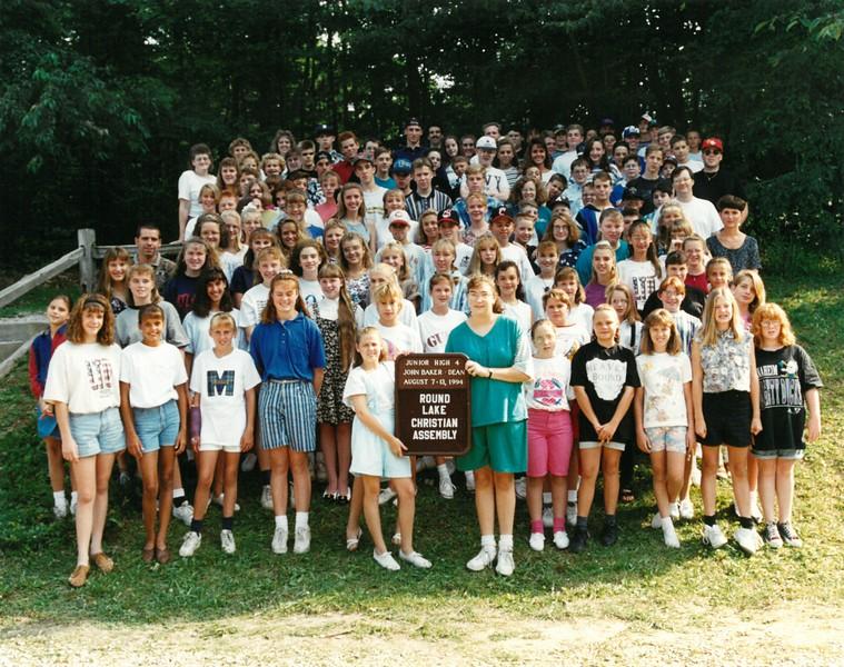 Jr Hi 4, August 7-13, 1994 John Baker Dean