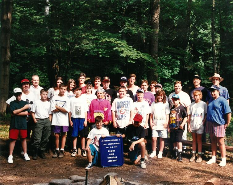 Jr Hi  Wilderness 2, July 3-9, 1994 Dave Nelson Dean