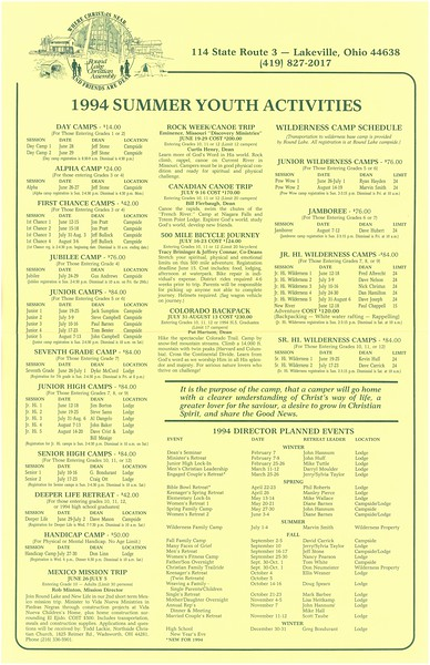1994 Summer Youth Activities