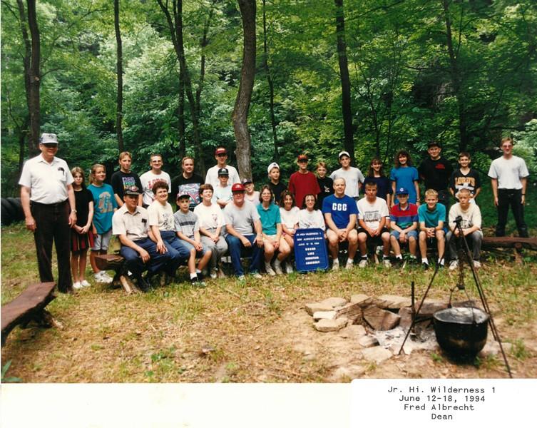 Jr Hi  Wilderness 1, June 12-18, 1994 Fred Albrecht Dean