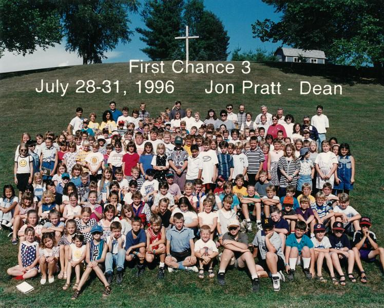First Chance 3, July 28-31, 1996 Jon Pratt, Dean