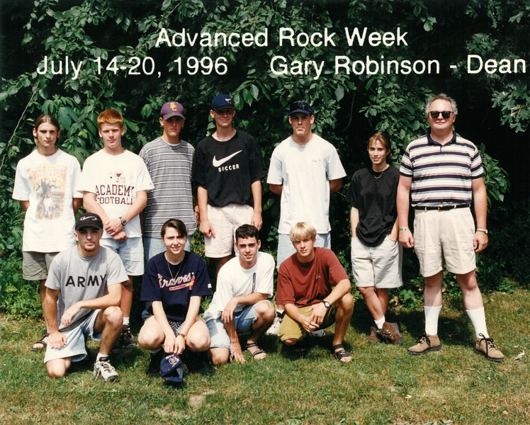 Advanced Rock Week, July 14-20, 1996 Gary Robinson, Dean