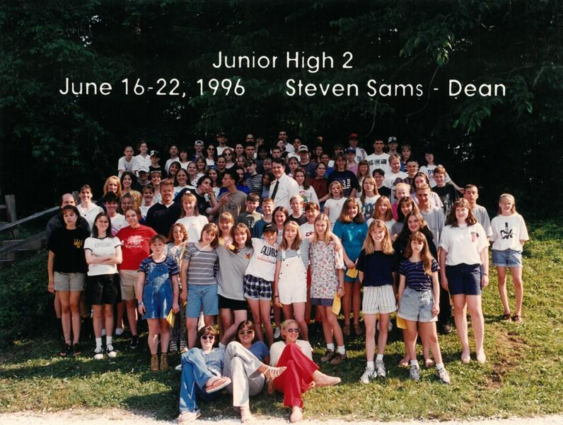 Junior High 2, June 16-22, 1996 Steven Sams, Dean-1