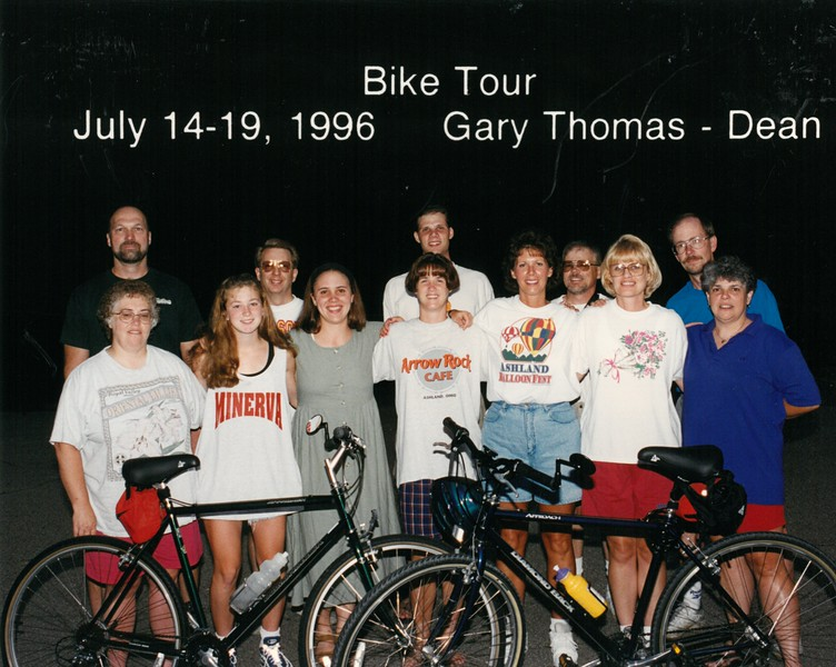 Bike Tour, July 14-19, 1996 Gary Thomas, Dean