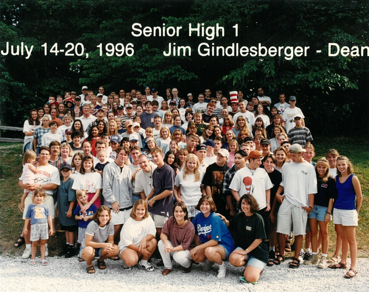 Senior High 1, July 14-20, 1996 Jim Gindlesberger, Dean