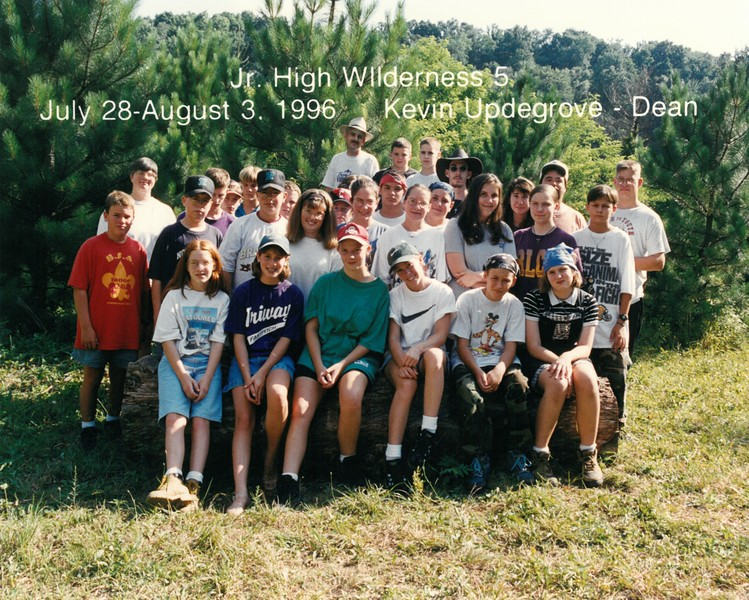 Junior High Wilderness 5, July 28-August 3, 1996 Kevin Updegrove, Dean
