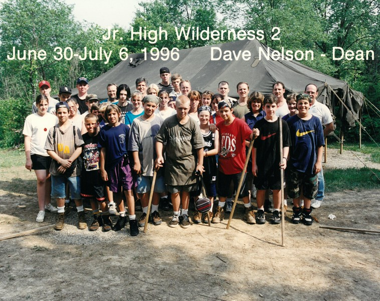 Junior High Wilderness 2, June 30-July 6, 1996 Dave Nelson, Dean
