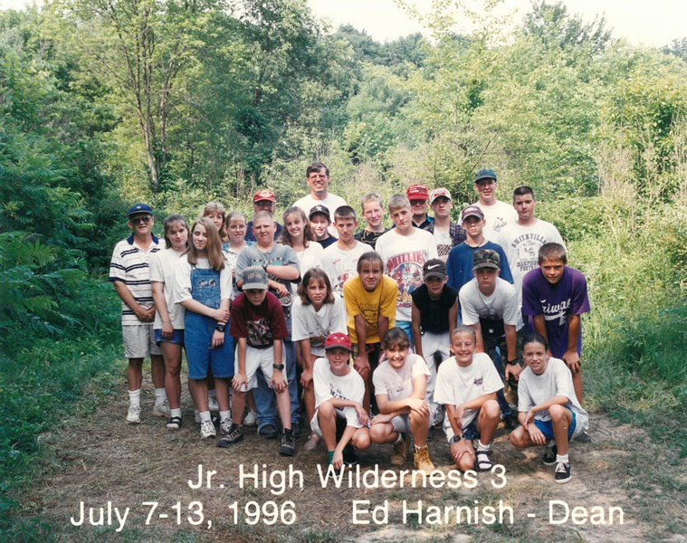 Junior High Wilderness 3, July 7-13, 1996 Ed Harnish, Dean