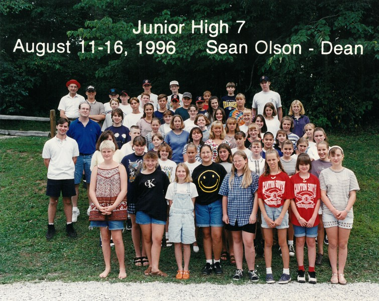 Junior High 7, August 11-16, 1996 Sean Olson, Dean