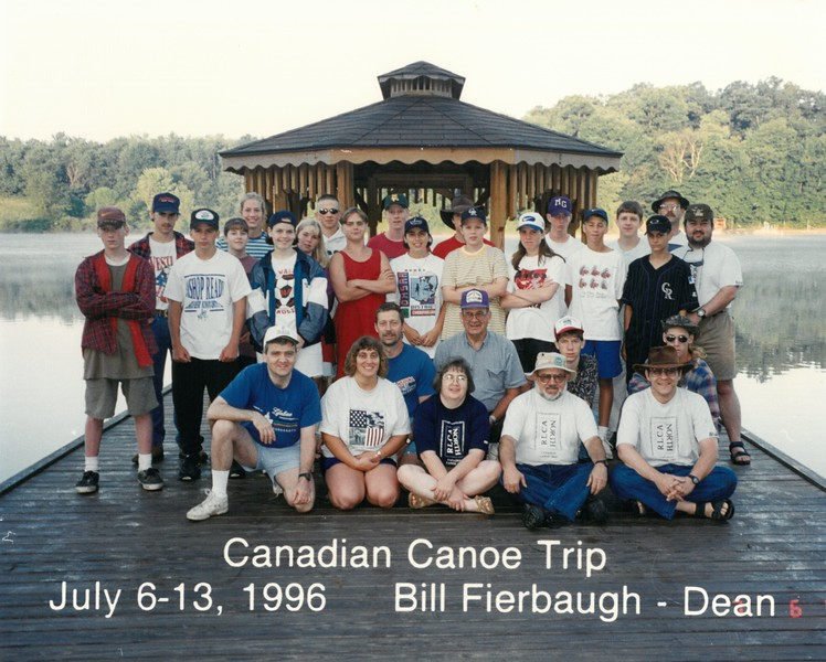 Canadian Canoe Trip, July 6-13, 1996 Bill Fierbaugh, Dean