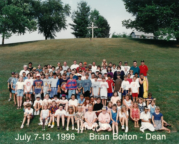 Junior 3, July 7-13, 1996 Brian Bolton, Dean
