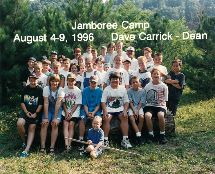 Jamboree Camp, August 4-9, 1996 Dave Carrick, Dean