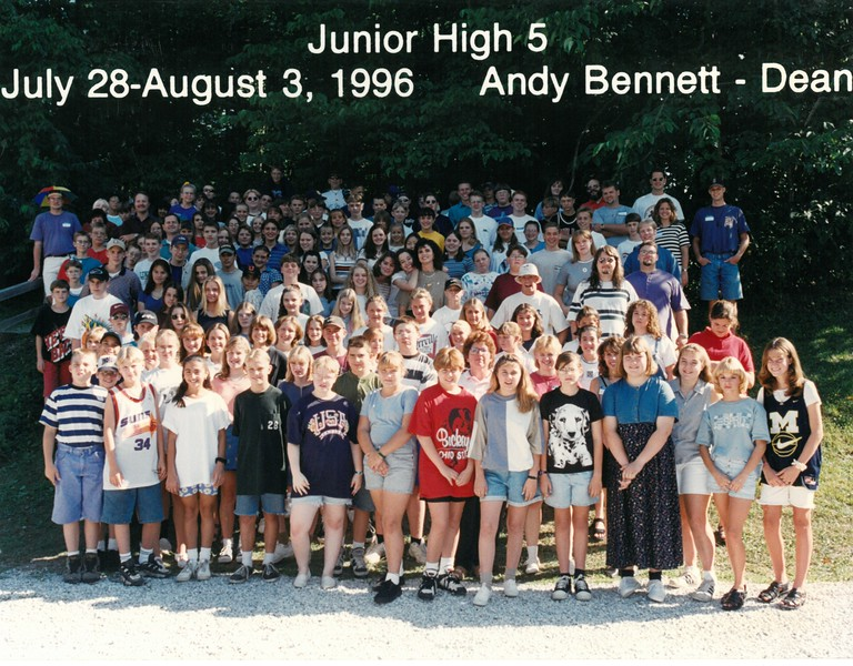 Junior High 5, July 28-August 3, 1996 Andy Bennett, Dean