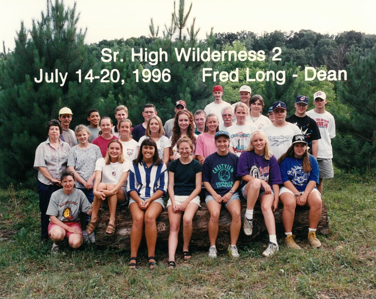 Senior High Wilderness 2, July 14-20, 1996 Fred Long, Dean
