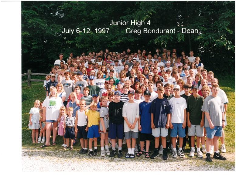 Junior High 4, July 6-12, 1997 Greg Bondurant, Dean