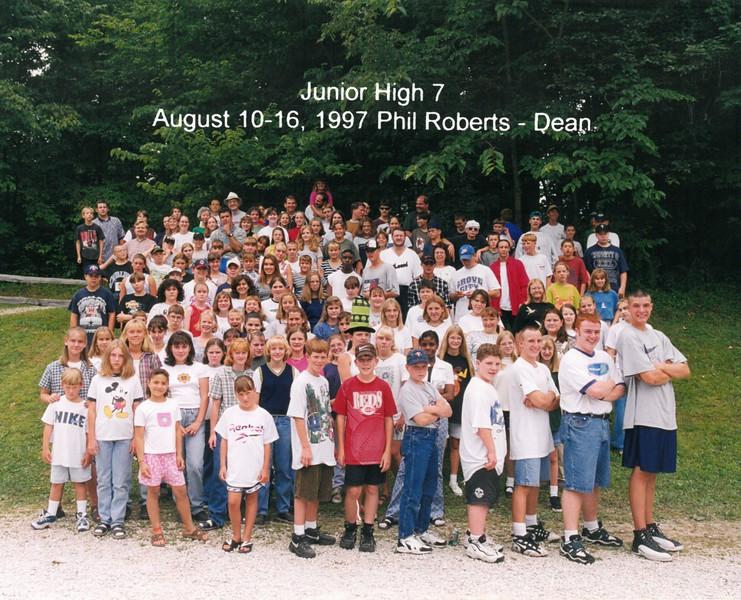 Junior High 7, August 10-16, 1997 Phil Roberts, Dean