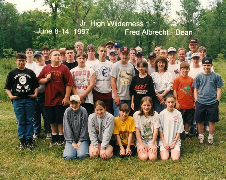 Junior High Wilderness 1, Juen 8-14, 1997 fred Albrecht, Dean