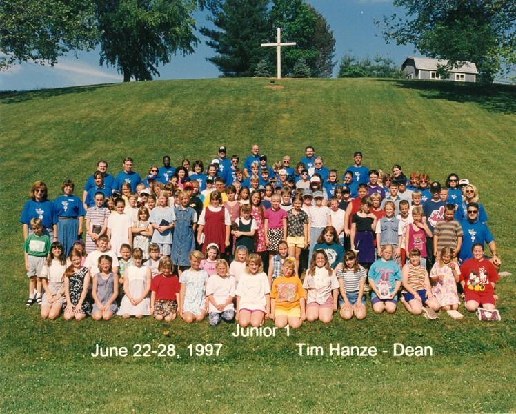 Junior 1, June 22-28, 1997 Tim Hanze, Dean