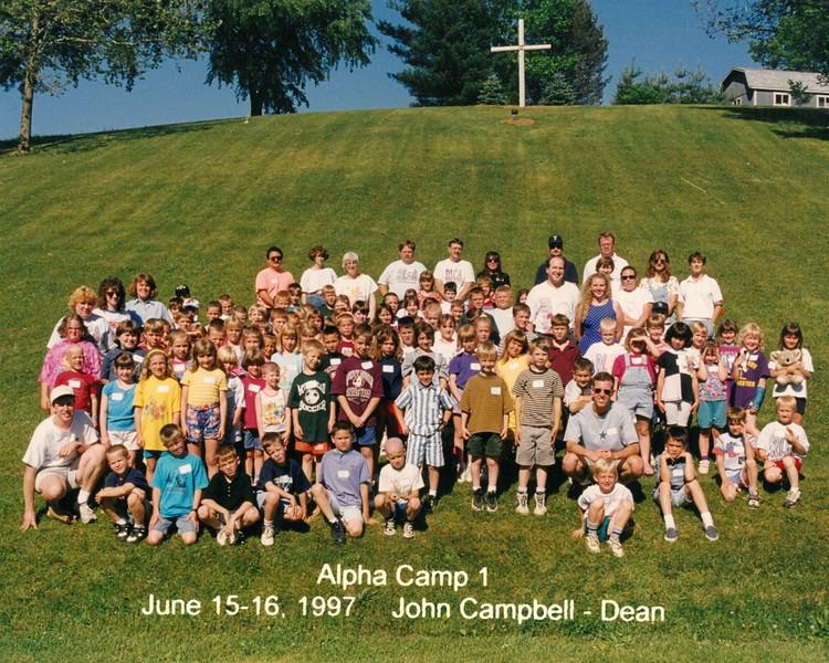 Alpha Camp 1, June 15-16, 1997 John Campbell, Dean