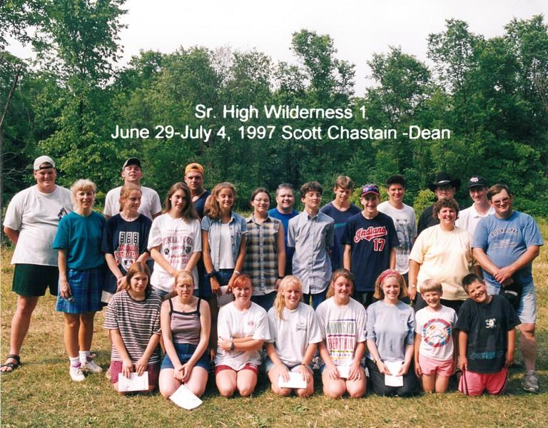 Senior High Wilderness 1, June 29-July 4, 1997 Scott Chastain, Dean