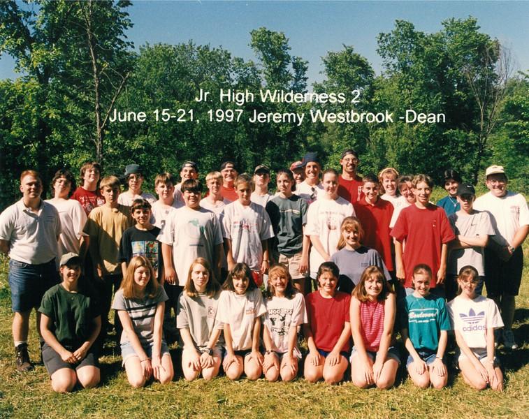Junior High Wilderness 2, June 15-21, 1997 Jeremy Westbrook, Dean