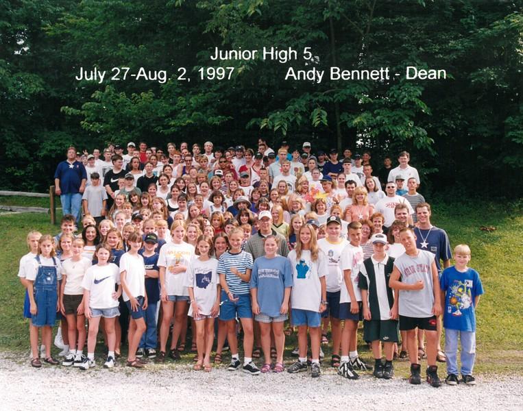 Junior High 5, July 27-Aug 2, 1997 Andy Bennett, Dean