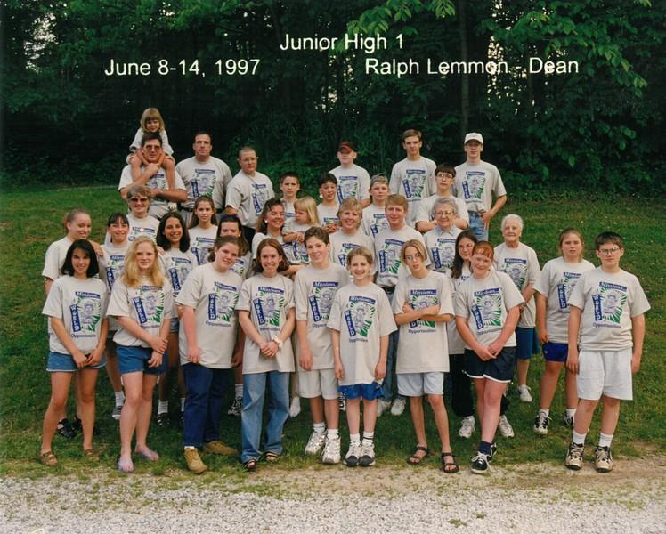 Junior High 1, June 8-14, 1997 Ralph Lemmon, Dean